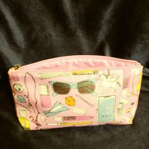 """Clinique Pink Cosmetic Bag never used 9""""x7"""""""